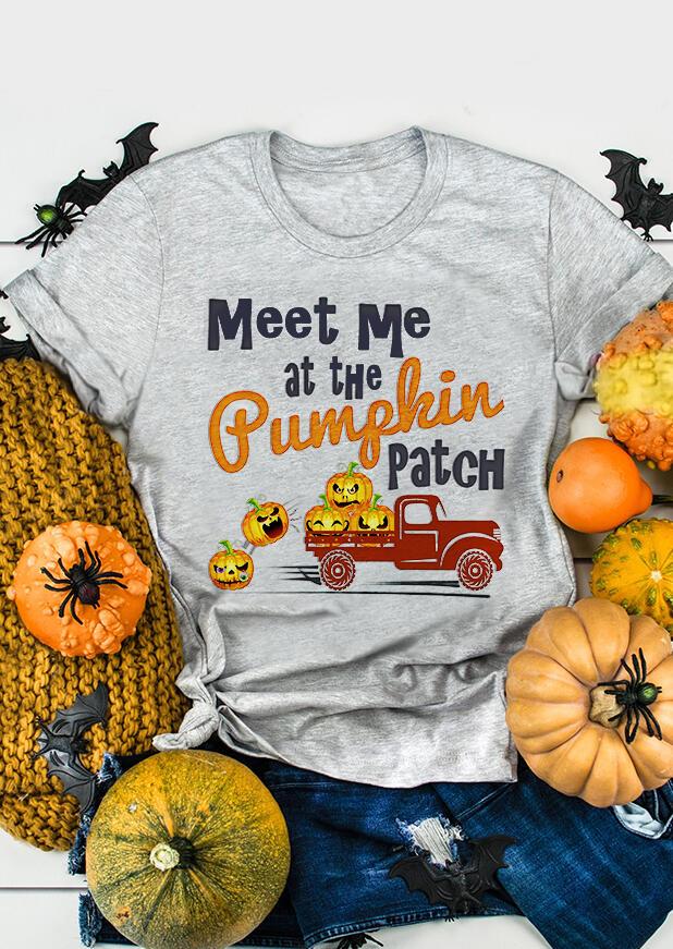 Meet Me At The Pumpkin Patch T-Shirt Tee – Light Grey