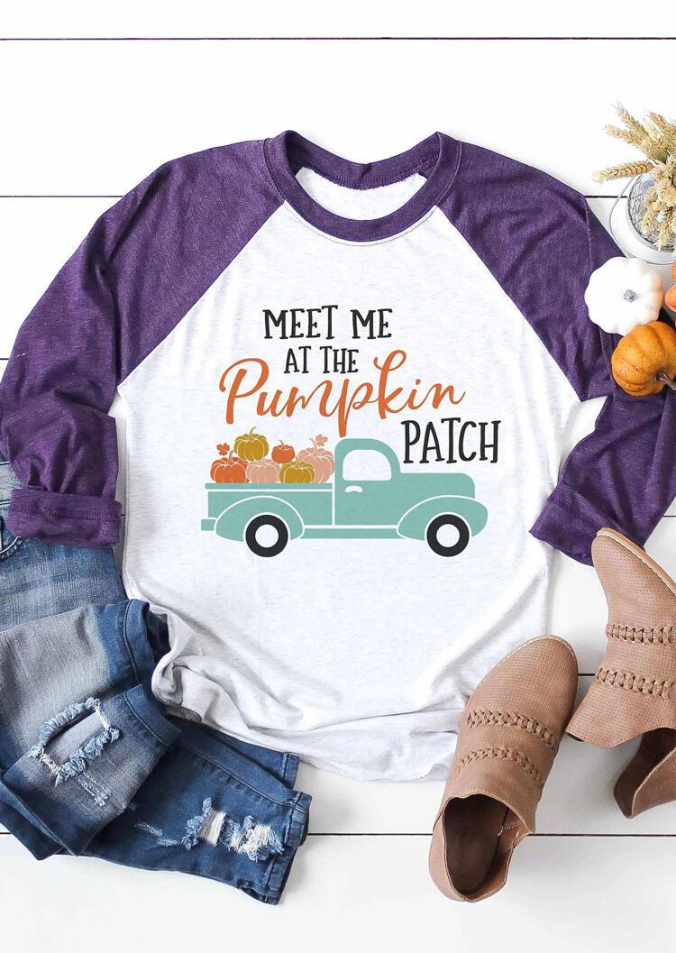 Meet Me At The Pumpkin Patch T-Shirt Tee – White