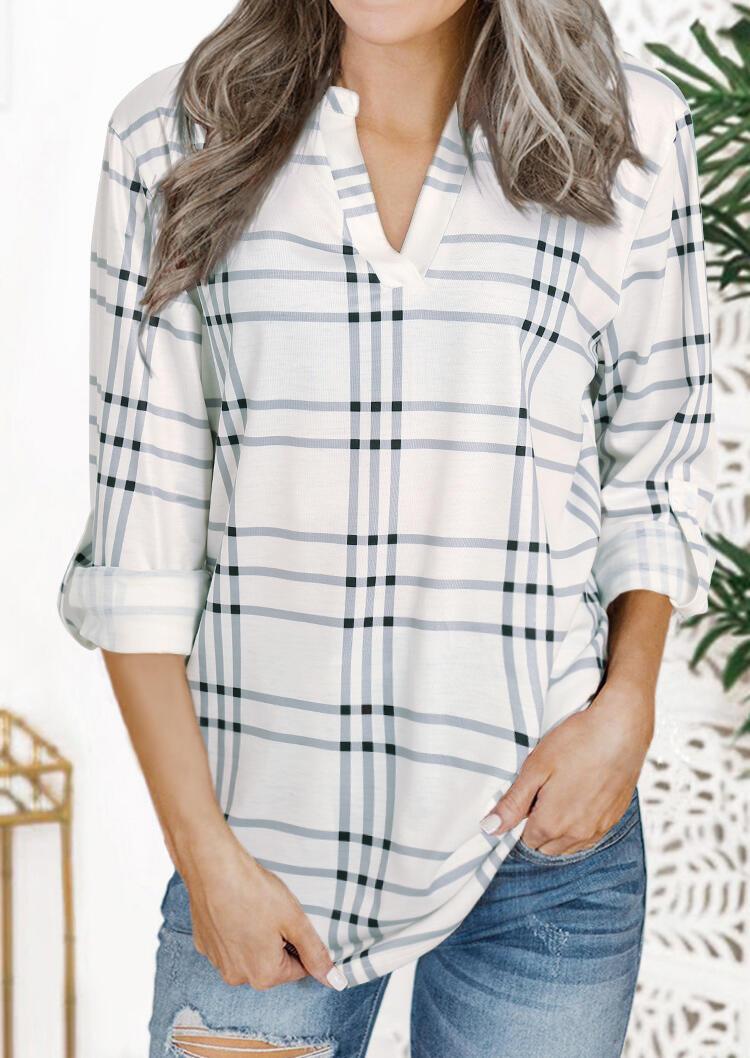 Shirts_Plaid_Splicing_Long_Sleeve_Shirt__White_Size_SMLXL