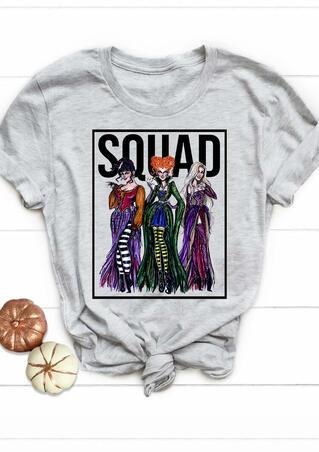 Halloween Hocus Pocus Squad T-Shirt Tee - Gray