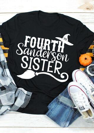 Halloween Fourth Sanderson Sister T-Shirt Tee - Black