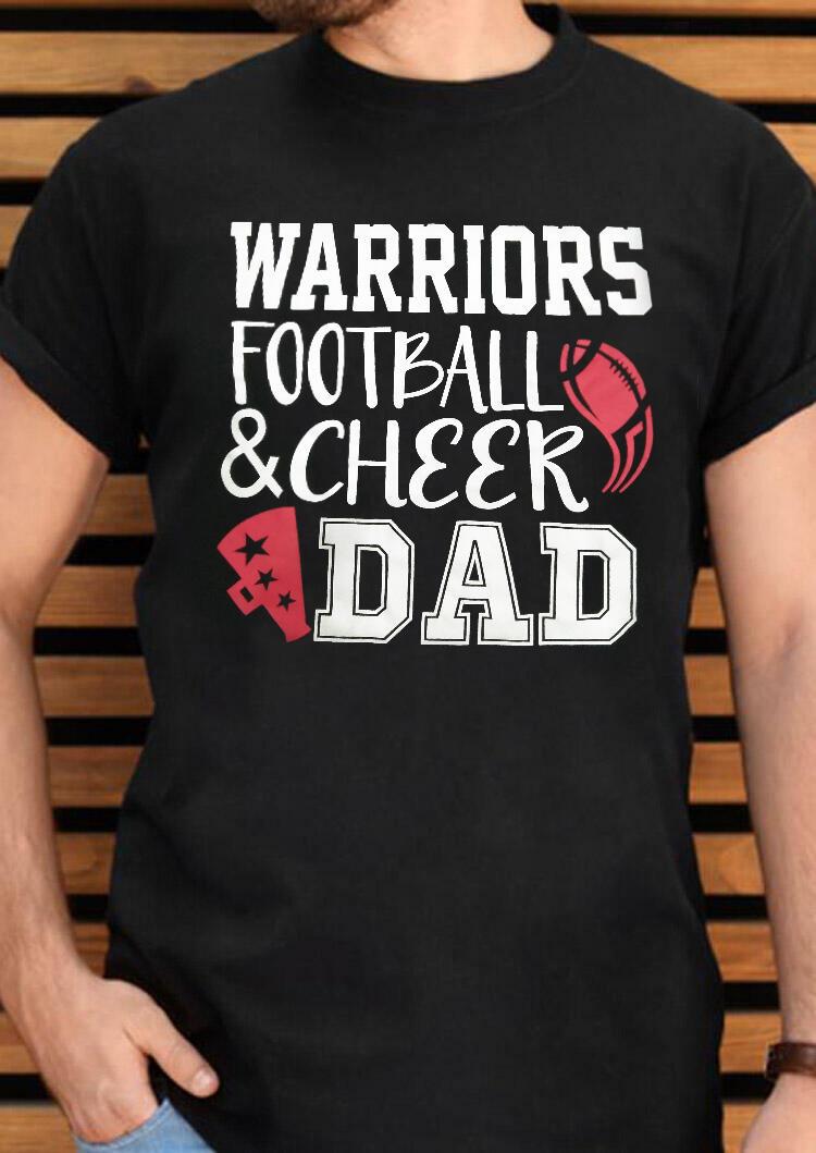Football & Cheer Dad T-Shirt Tee – Black