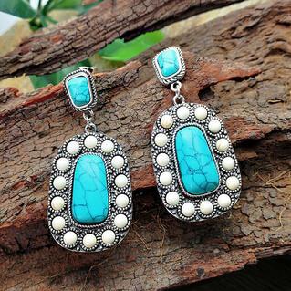 Bohemian Turquoise Drop Vintage Earrings