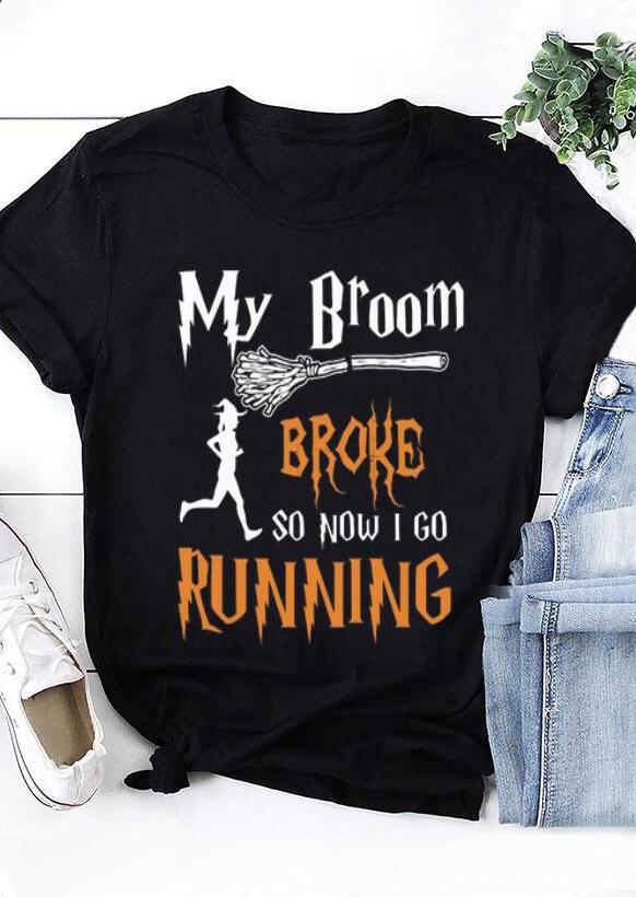 My Broom Broke T-Shirt Tee – Black