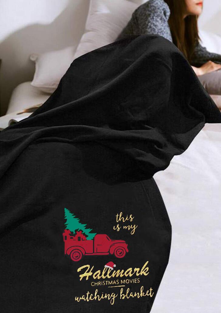 Hallmark Christmas Movie Watching Blanket - Black
