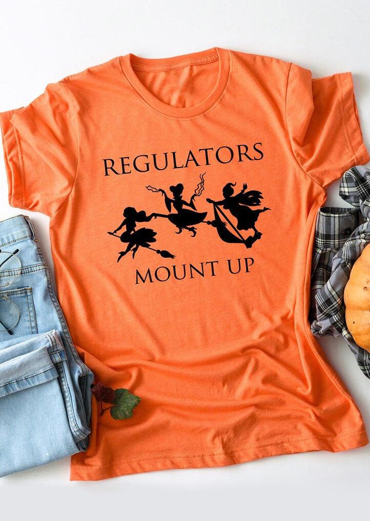 Regulators Mount Up T-Shirt Tee – Orange