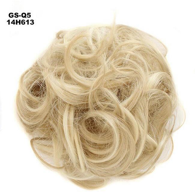 Messy Rose Hair Bun Scrunchie