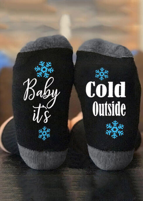 Baby It's Cold Outside Snowflake Socks