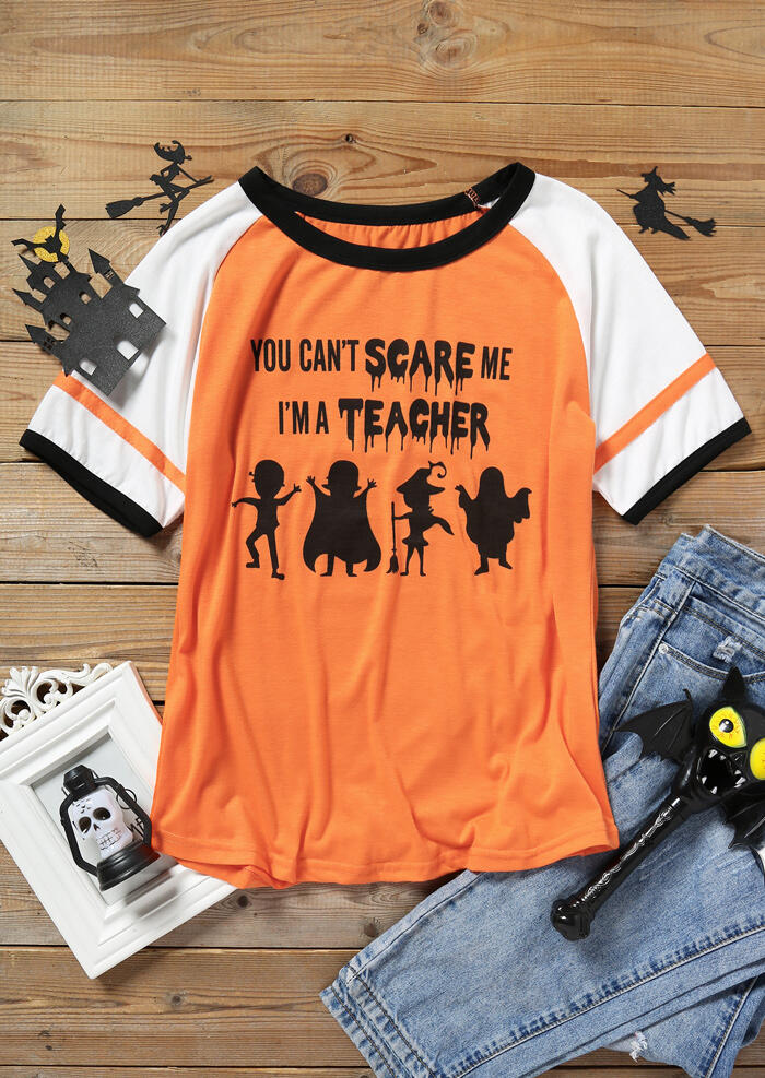 Halloween You Can't Scare Me Baseball T-Shirt