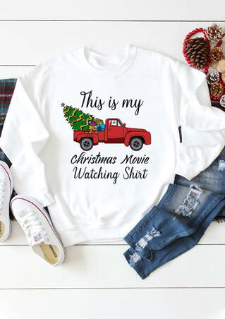 This Is My Christmas Movies Watching Sweatshirt - White
