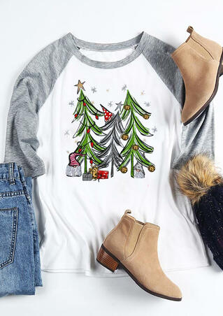 Christmas Tree Gift T-Shirt Tee - White