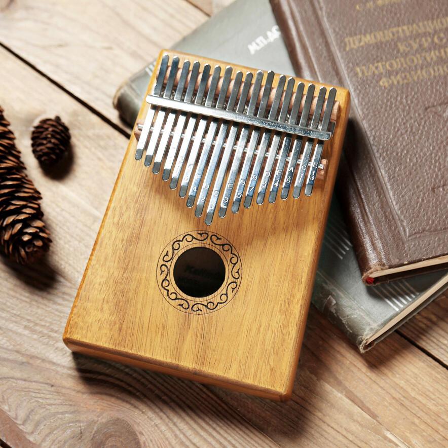 Portable 17 Key Mahogany Kalimba Thumb Piano Key C