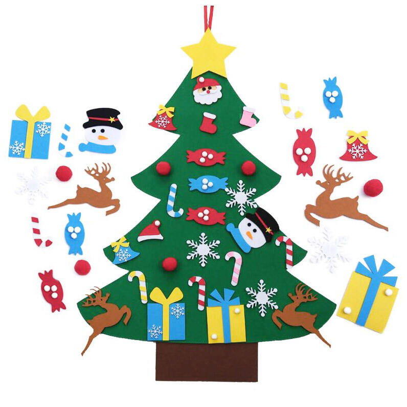 & DIY Non-Woven Fabric Christmas Tree Set in Green. Size: One Size фото