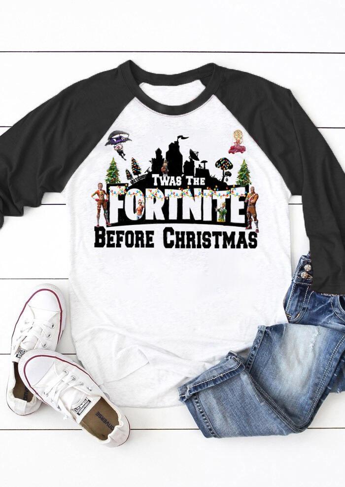 Fortnite Before Christmas T-Shirt Tee – Black