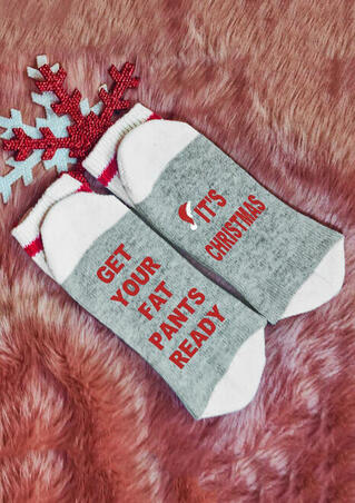 Get Your Fat Pants Ready It's Christmas Socks