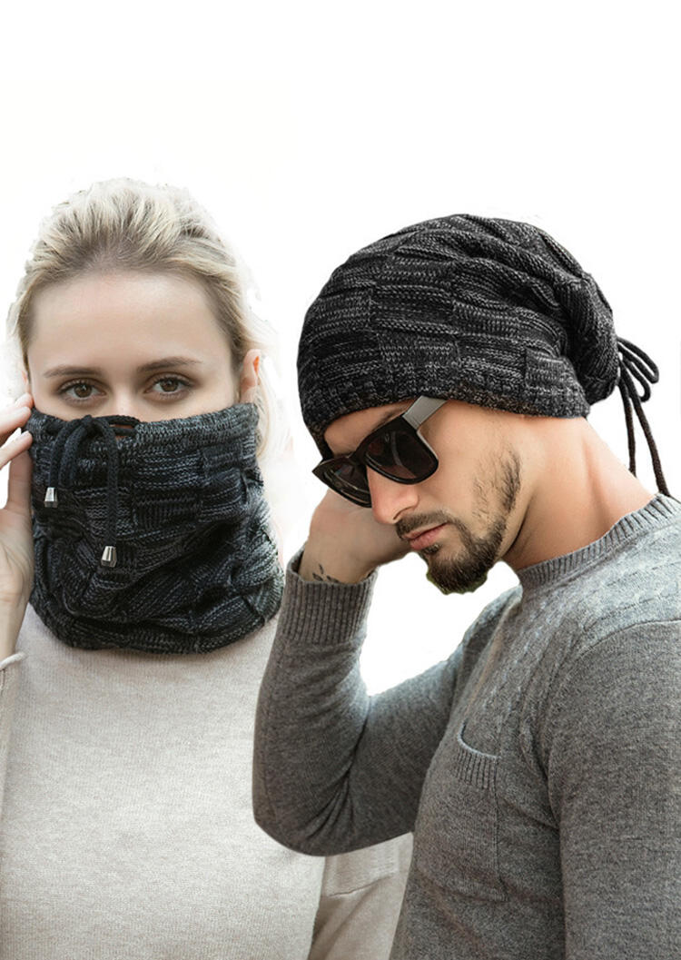 Multifunctional Winter Warm Wrap Scarf Knitted Hat