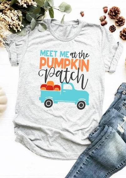 Meet Me At The Pumpkin Patch T-Shirt Tee