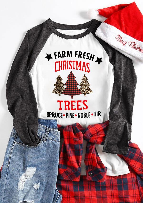 Farm Fresh Christmas Trees T-Shirt Tee – White