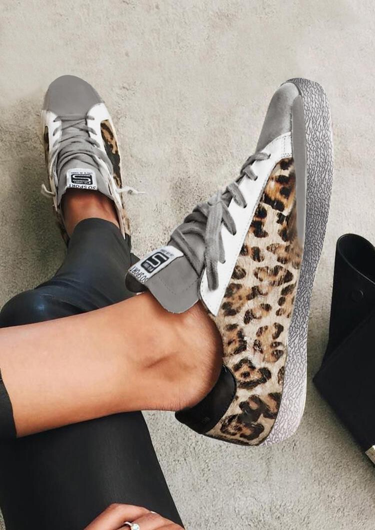 スニーカー Leopard印刷丸いつま先平のメーカーです。 サイズ:35,36,37,38,39