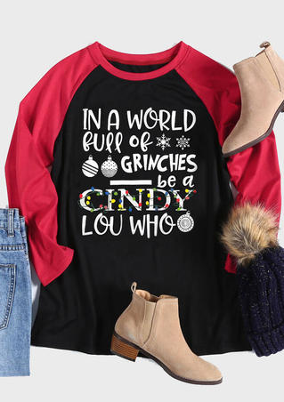 Grinches Be A Cindy Lou Who T-Shirt Tee - Black