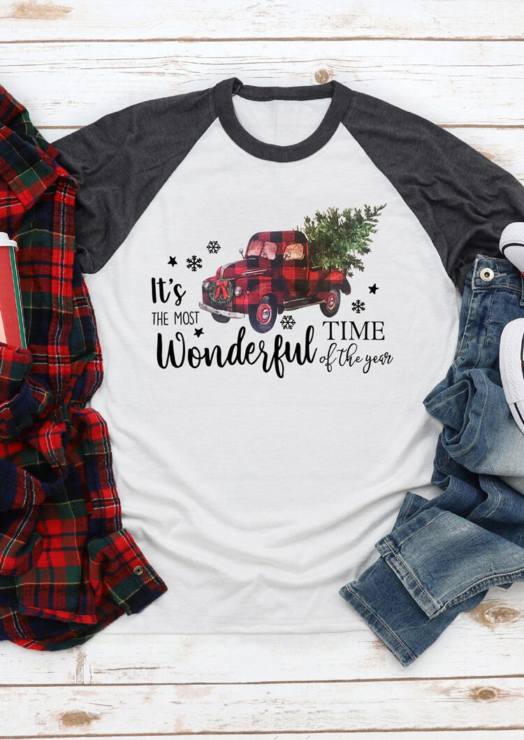 It's The Most Wonderful Time Of The Year T-Shirt Tee – White