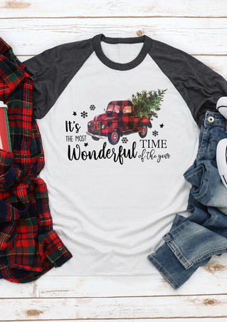 It's The Most Wonderful Time Of The Year T-Shirt Tee - White