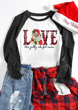 Santa Love The Jolly Ole Fat Man T-Shirt Tee - White