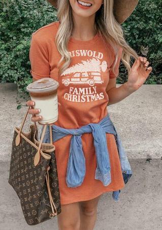 Griswold Family Christmas Mini Dress - Orange
