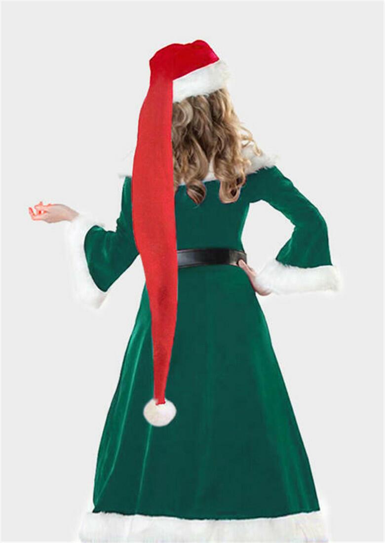 Adult Super Long Christmas Santa Plush Hat
