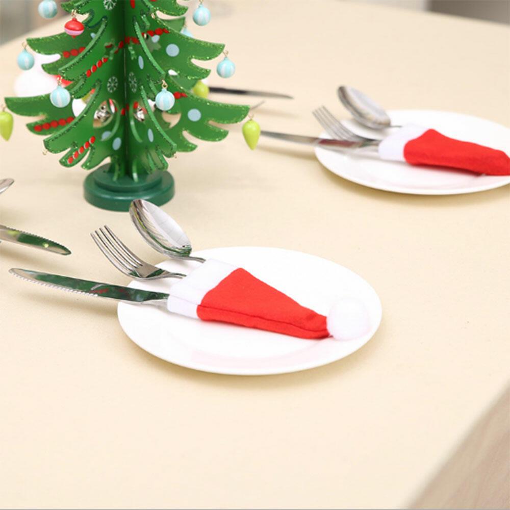 Santa Hat Tableware Holder Pocket