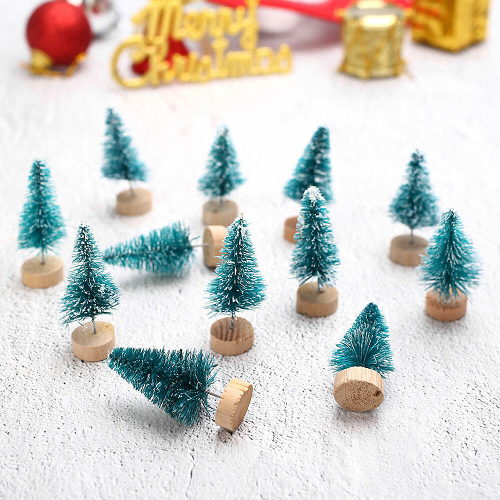Home Decor Mini Christmas Tree with Base in Green,Blue фото