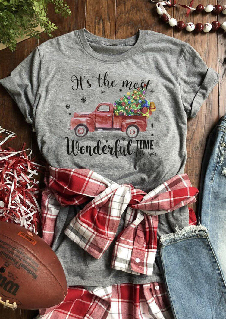 Tees T-shirts It's The Most Wonderful Time Of The Year T-Shirt Tee - Gray. Size: M,L фото