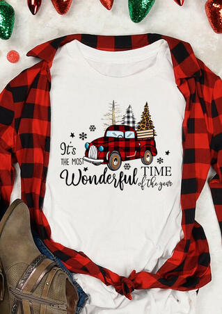 It's The Most Wonderful Time T-Shirt Tee - White
