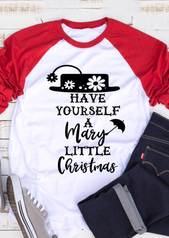 A Mary Little Christmas O-Neck T-Shirt Tee – White