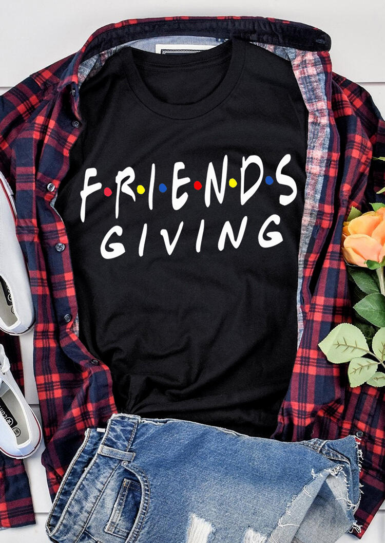 Friends Giving T-Shirt Tee – Black