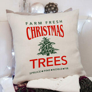 Farm Fresh Christmas Trees Pillowcase without Pillow