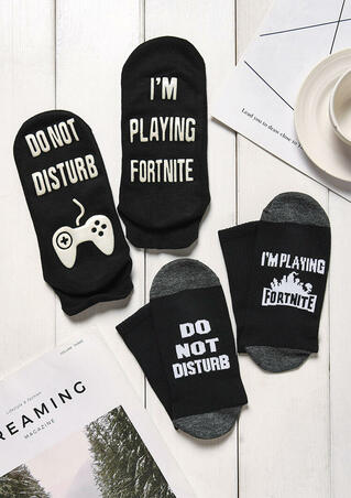 2 Pairs I'm Playing Fortnite Socks