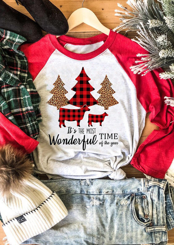 Christmas It's The Most Wonderful Time Of The Year T-Shirt Tee – Light Grey