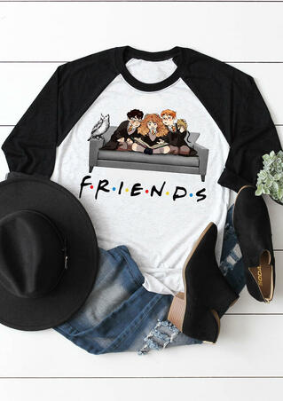 Friends O-Neck T-Shirt Tee - Light Grey