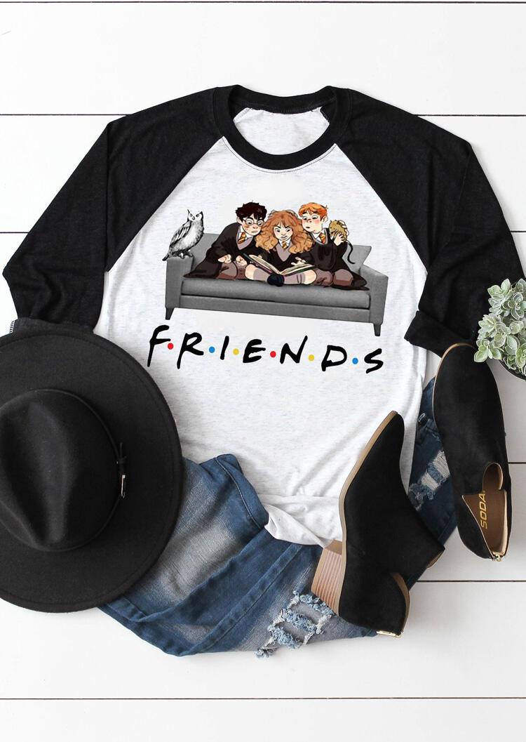 Friends O-Neck T-Shirt Tee – Light Grey