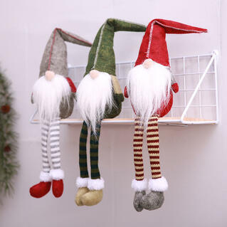 Striped Gnomies Old Man Doll Christmas Decoration