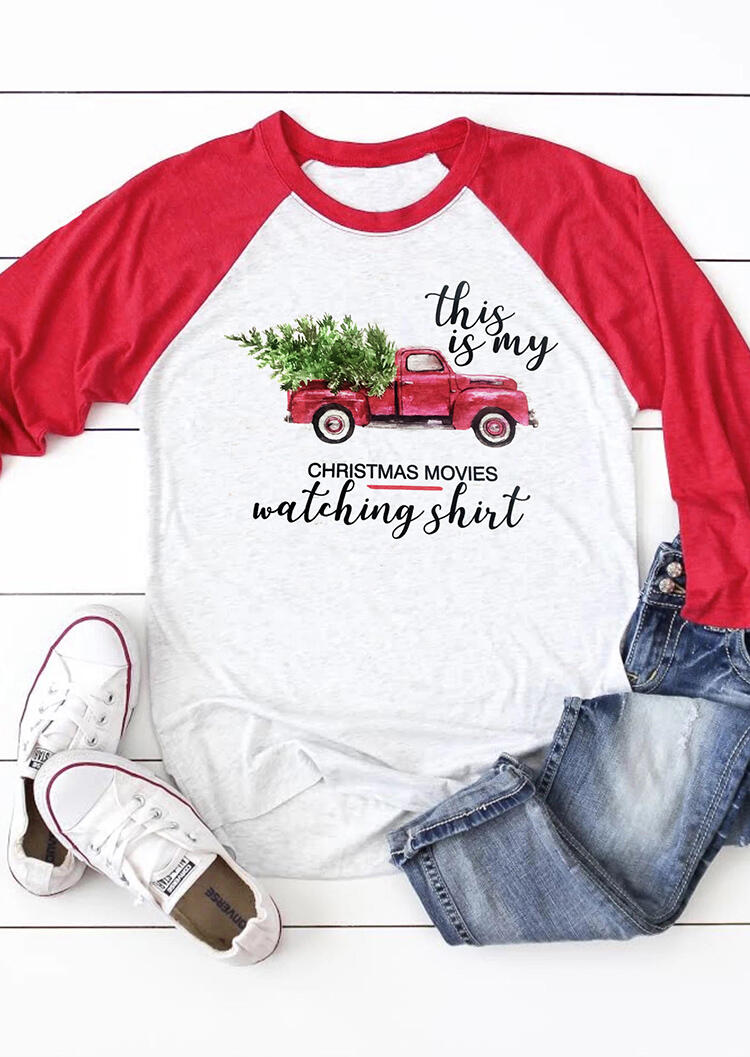 This Is My Christmas Movies Watching T-Shirt Tee – Light Grey
