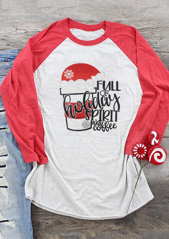 Full Of Holiday Spirit Aka Coffee T-Shirt Tee – Gray
