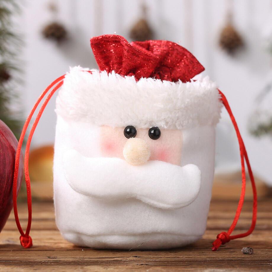 Christmas Decoration Apple Drawstring Gift Bag