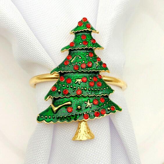 Christmas Tree Bead Decoration Napkin Buckle