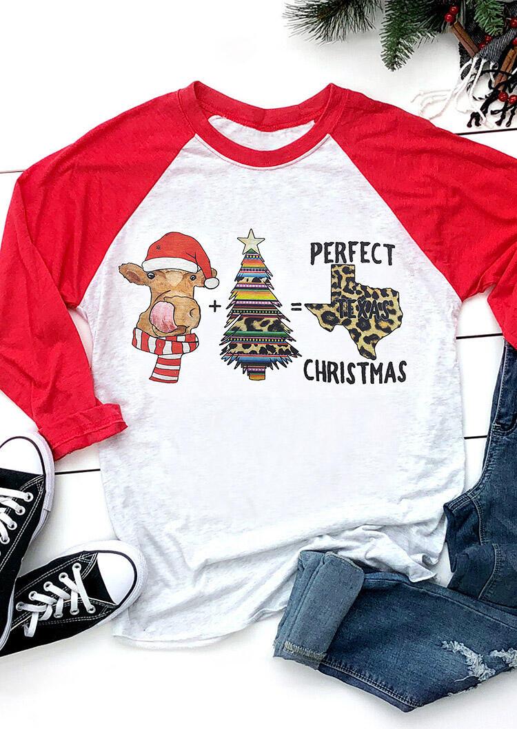 Leopard Printed Perfect Texas Christmas T-Shirt Tee - Light Grey фото