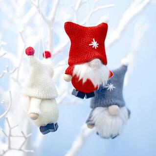 Christmas Cute Plush Faceless Gnomies Hanging Doll