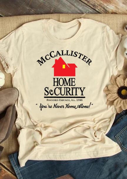 Mccallister Home Security T-Shirt Tee – Cream