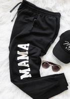 Mama Drawstring Pocket Pants - Black