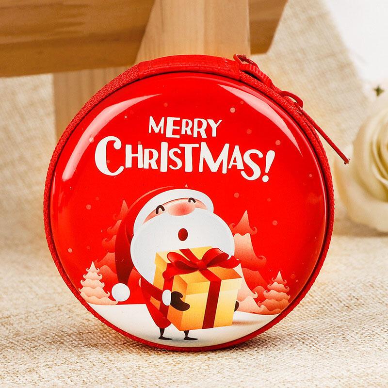 Merry Christmas Zipper Gift Bag Coin Purse